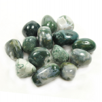 Moss Agate Tumbled Stone 40-50mm - 1 Pc