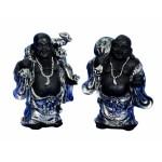 Buddha Black Standing 20cm 5471-1 pc