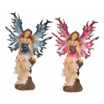 Fairy on Pillar Bl Pk with Rhinestones 5482