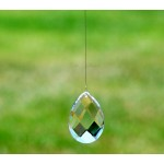 Pear 64mm Crystal on Wire (24A)