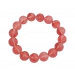 Cherry Quartz 12mm Ball Bracelet