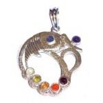 Chakra Fish Silver Plated Pendant SP Chain