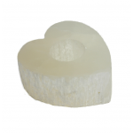 Selenite Heart Tealights 10cm x 9cm
