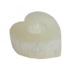 Selenite Heart Tealights 10cm x 9cm