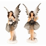 Fairy Standing Silver Grey 14.5cm 7306 - 4 pcs
