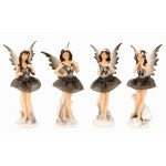 Fairy Standing Grey Silver16cm 7308 - 4 pcs