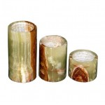 Marble Tea Light Cylinder- Set of 3